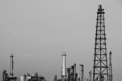 石油工业黑白照片 库存照片