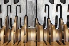 石油平台重的压气机机械细节 挪威 免版税库存图片