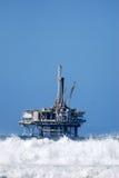 石油平台 库存照片