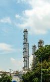 石油炼厂 免版税库存照片