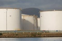 石油燃料贮存坦克 免版税库存图片