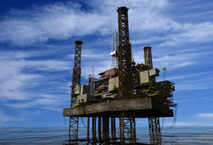 石油生产 向量例证