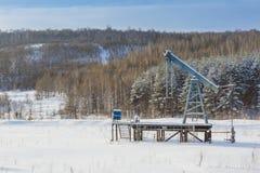 石油的油泵船具能量工业机器 免版税库存照片