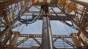 石油钻井船具的Topdrive 股票录像