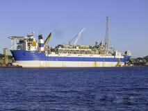 石油&气体近海FPSO抽油装置 免版税库存照片