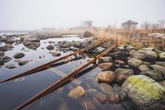 石波儿地克的海岸的海运 免版税库存图片