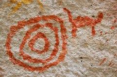 石洞壁画巴塔哥尼亚 免版税库存照片