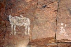 石洞壁画 免版税库存图片