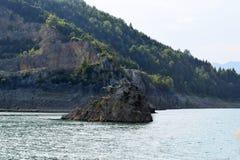 石海岛在湖 库存照片