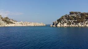 石海岛在爱琴海,天堂地方 免版税图库摄影