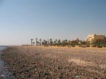 石海岸的红海 库存照片