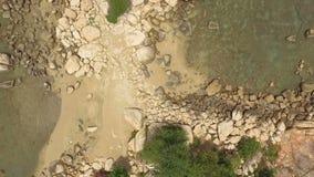 石海滩,从上面看法,上帝` s计划 股票视频