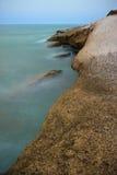 石海滩的看法在特内里费岛 库存照片