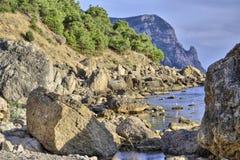 石混乱,风景山,巨大背景 免版税库存照片