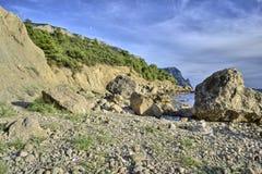 石混乱,风景山,巨大背景 免版税库存图片