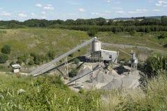 石渣制造工厂 库存照片