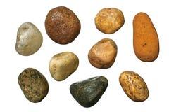 石渣向杂色扔石头 库存图片