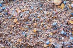 石渣和沙子接近的背景 库存图片