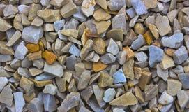 石渣样品从石灰华和大理石的,用于风景设计创造石头庭院  库存照片