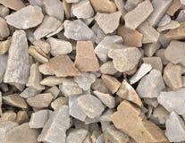 石渣样品从石灰华和大理石的,用于风景设计创造石头庭院  免版税图库摄影