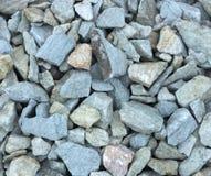 石渣样品从石灰华和大理石的,用于风景设计创造石头庭院  图库摄影