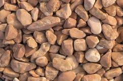 石渣样品从石灰华和大理石的,用于风景设计创造石头庭院  库存图片