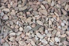 石渣样品从石灰华和大理石的,用于风景设计创造石头庭院  免版税库存图片