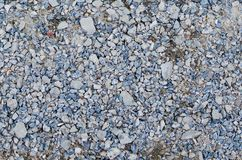 石渣的混合在蓝色白色和灰色颜色的 免版税库存照片