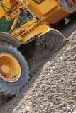 石渣移动 免版税库存图片