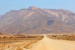 石渣路Brandberg高山,纳米比亚 库存照片