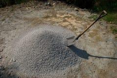 石渣铁锹 库存图片