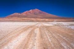 石渣Altiplano路在玻利维亚 图库摄影