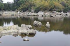 石湖 库存图片