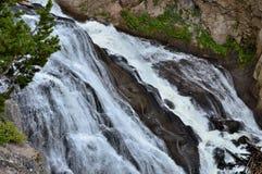 黄石瀑布 库存照片