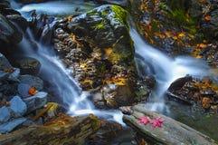 石瀑布 库存图片