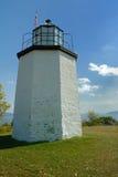 石灯塔的点 免版税库存照片