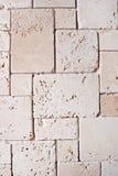 石灰华铺磁砖了墙壁 免版税库存照片