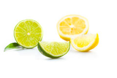 石灰和柑橘 库存照片