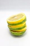 石灰和柠檬切片 免版税库存照片