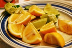 石灰和柠檬 免版税库存图片