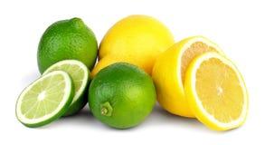 石灰和柠檬 免版税库存照片