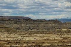 石灰岩地区常见的地形地形在西藏 库存图片