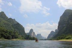 石灰岩地区常见的地形山,桂林 免版税库存图片