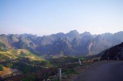 石灰岩地区常见的地形横向 免版税库存图片