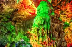 石灰岩地区常见的地形洞 免版税库存照片
