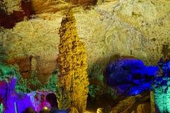 石灰岩地区常见的地形洞 免版税库存图片
