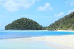 石灰岩地区常见的地形海岛 免版税库存照片