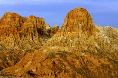 石灰岩地区常见的地形石灰石 免版税库存图片