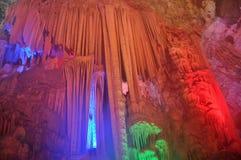 石灰岩地区常见的地形洞 库存图片