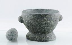 石灰浆和杵 免版税库存图片